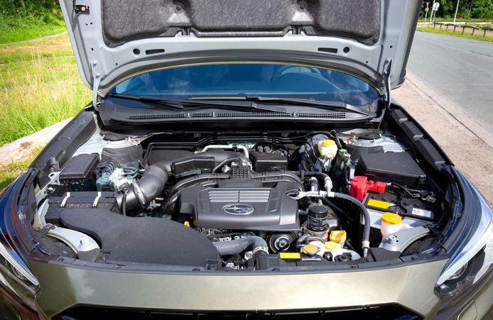 De Subaru Outback heeft - als vanouds - een boxermotor in zijn neus