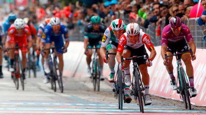 VIDEO. Bekijk de slotkilometer van de achtste etappe in de Giro