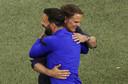 Frank de Boer met Ruud van Nistelrooy.