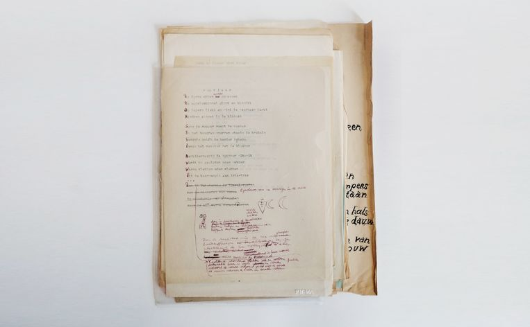 De bundel 'achtergelaten gedichten' van Lucebert.  Beeld Michiel Schierbeek