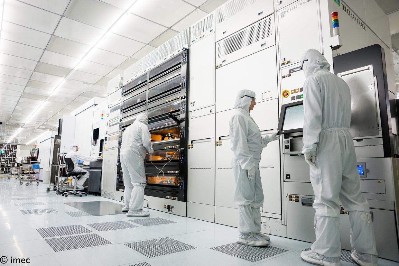 Imec is een Leuvens technologiebedrijf dat wereldwijd geldt als specialist in chiptechnologie. Beeld Imec