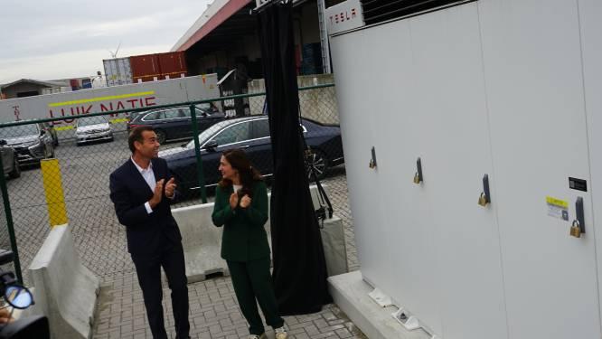"""Luik Natie heeft eerste Tesla megabatterij van ons land: """"Ideaal om stroomoverschotten op te slaan van zonnepanelen en windturbine"""""""
