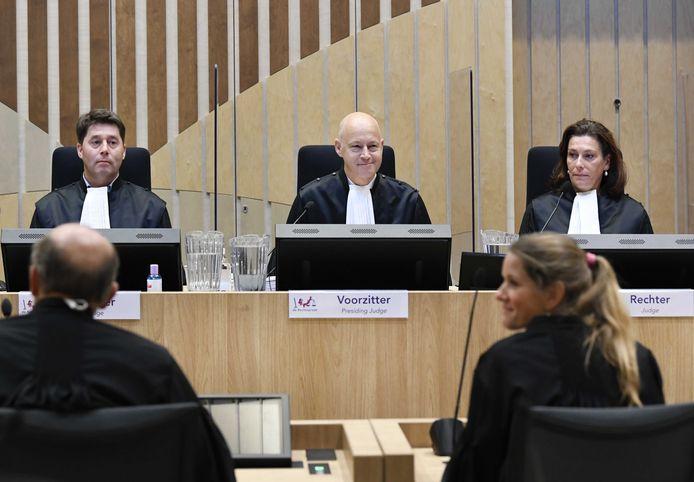 De rechtbank en de advocaten in het MH17-proces.