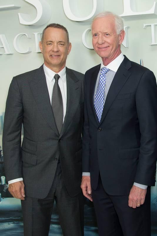 Acteur Tom Hanks met de echte Chesley Sullenberger.