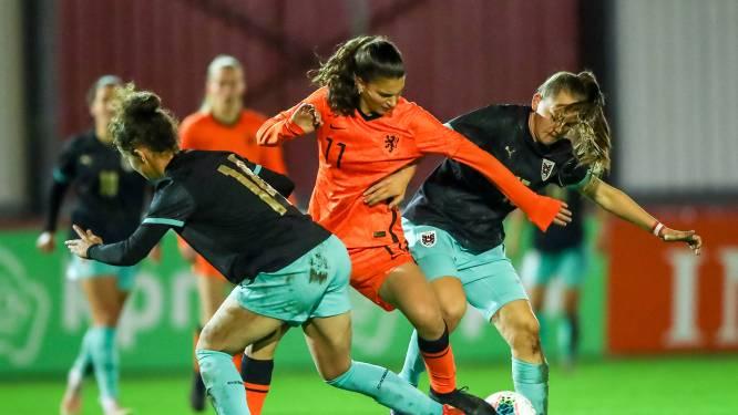 Bij Oranje O19 worden ook dribbels verwacht van Danique Noordman