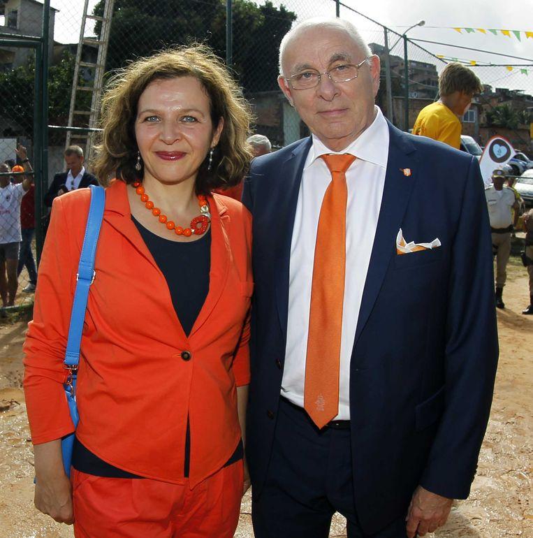 Michael van Praag met minister Edith Schippers van volksgezondheid. Beeld ANP Pro Shots