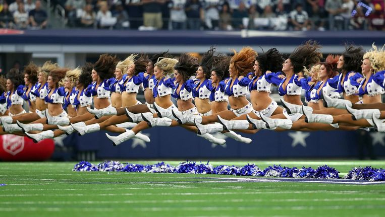 De cheerleaders van de Dallas Cowboys. Beeld getty