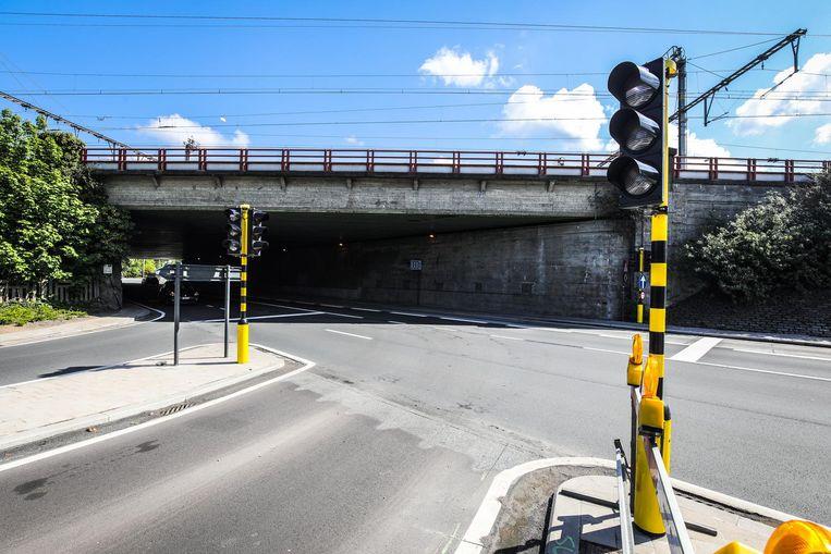 Aan de Boeveriepoort staan ook nieuwe verkeerslichten voor de bussen.