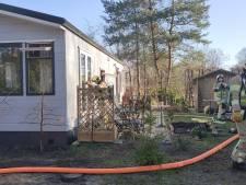 Brand uitgebroken in stacaravan in Maarn, bewoonster licht gewond