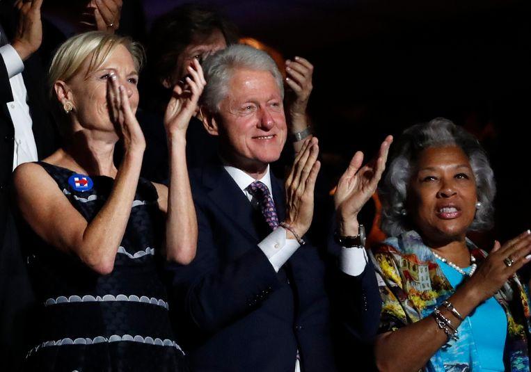 Staande ovatie voor Bernie Sanders Beeld AP