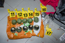 Deze granaten werden tijdens het onderzoek in beslag genomen.