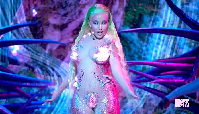 Doja Cat droeg een nietsverhullende outfit op de VMA's afgelopen weekend.