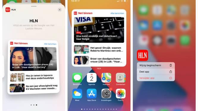 Ontdek ons nieuwste iPhone-snufje voor de HLN-app: zet je telefoon aan en zie meteen het allerlaatste nieuws