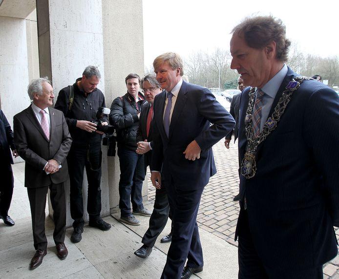 Prins Willem-Alexander op bezoek bij DAF Eindhoven. foto Rene Manders