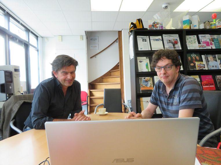 Huub Hermens (links) en Don Freijters: 'Altijd een eigen invalshoek.' Beeld