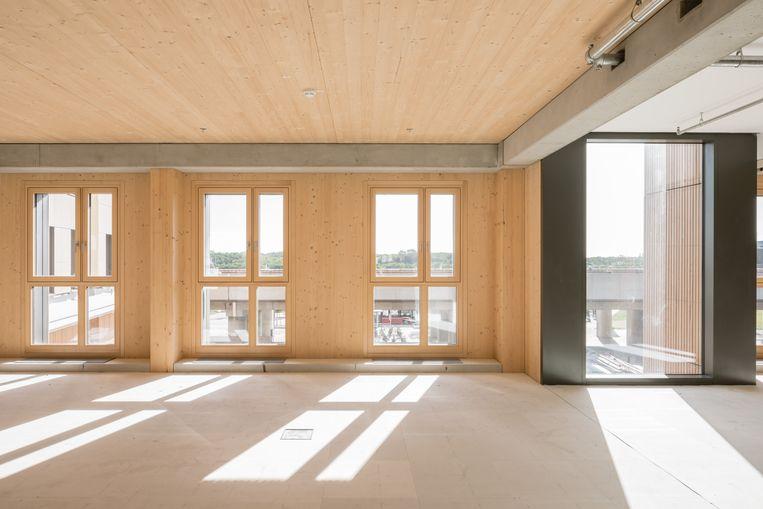 Interieur van de Weense HoHo-toren. Beeld Michael Baumgartner | KiTO