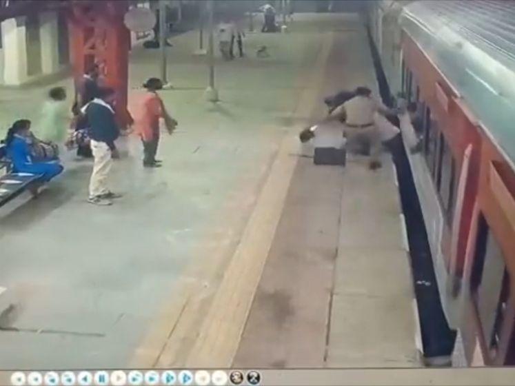 Dit incident toont aan hoe gevaarlijk opstappen is als trein al beweegt