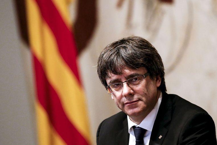 Carles Puigdemont leeft sinds 2017 in ons land. Beeld AFP