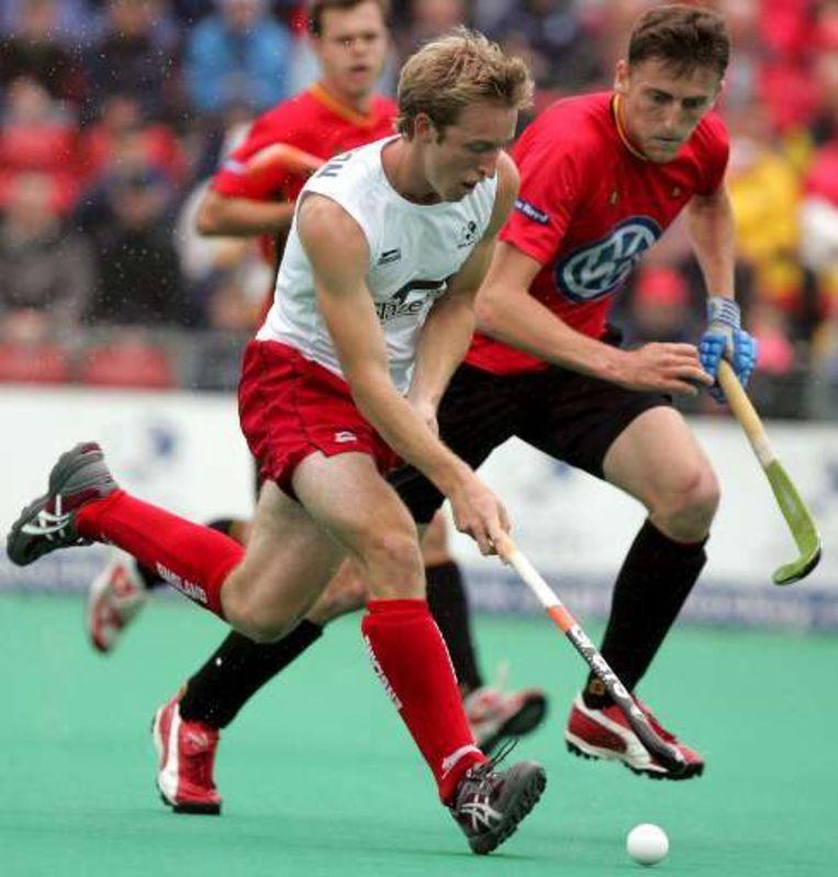 Antwerpenaar Xavier Reckinger, vaste basis in de Belgische hockeyverdediging. Beeld UNKNOWN