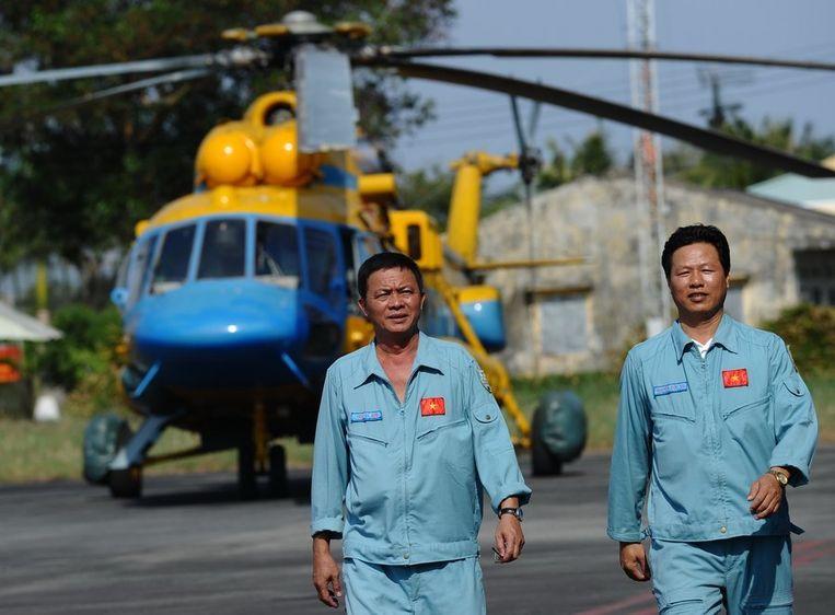 Leden van de Vietnamese luchtmacht. Beeld AFP