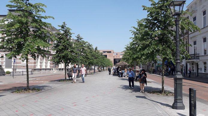 De Willemstraat in Breda vlak na de herinrichting enkele jaren geleden.
