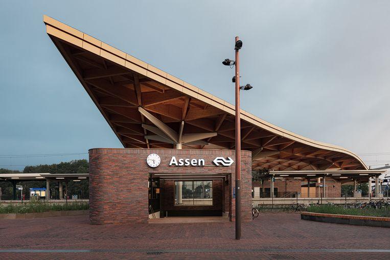 Station Assen, het favoriete gebouw van het publiek.  Beeld Sebastian van Damme