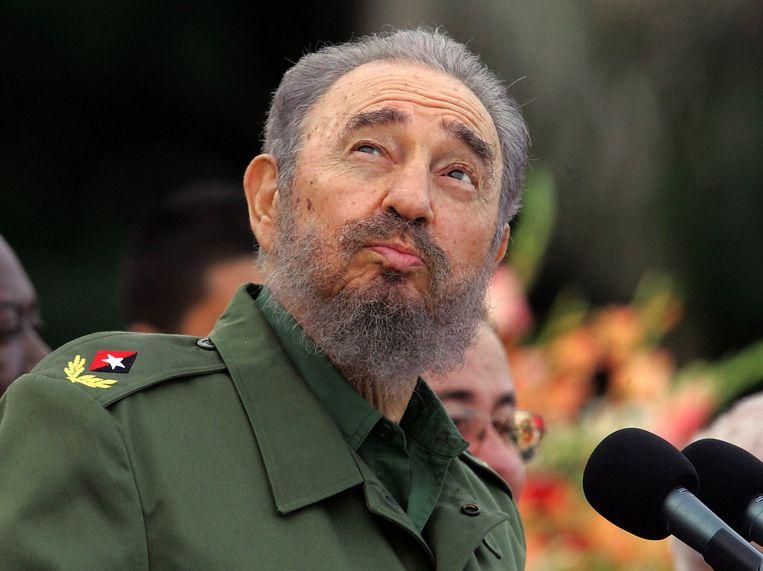 Castro tijdens een speech in 2006. Beeld AFP