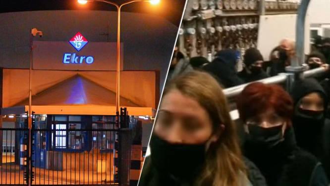 'Bezetters' van kalverslachterij Ekro in Apeldoorn na nachtje cel weer naar huis