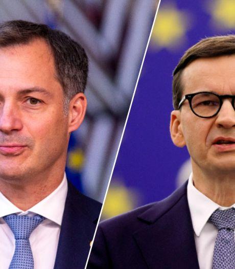 """De Croo tacle son homologue polonais: """"Notre Union n'est pas un distributeur automatique"""""""