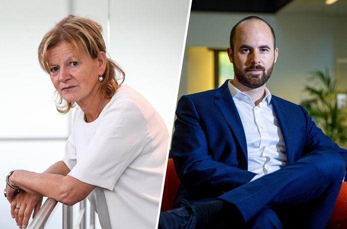 Advocaten Ann Van de Steen en Lennert Dierickx.