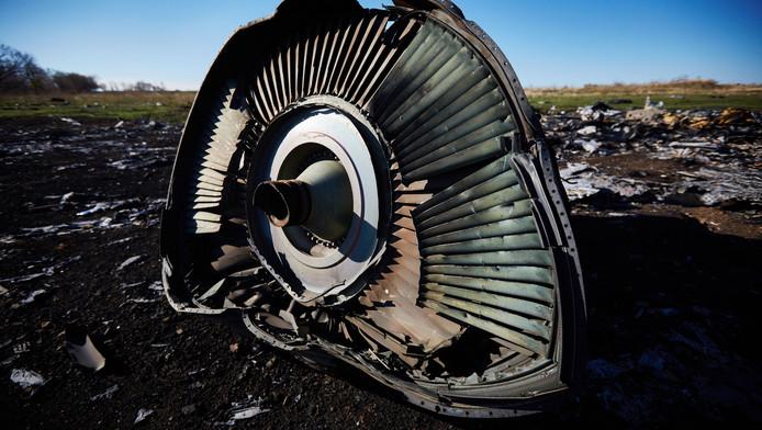 Brokstukken van vlucht MH17 in Oekraïne