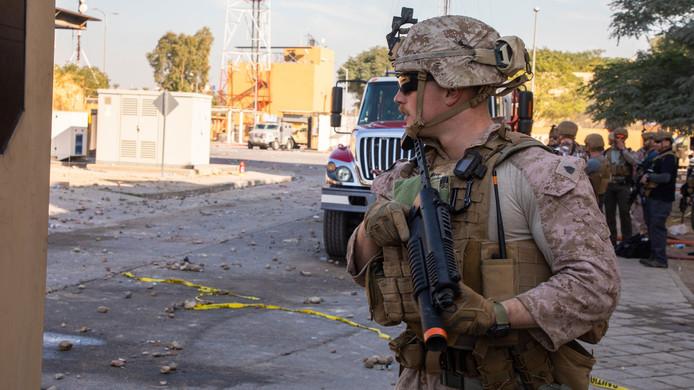 Arrivée des soldats américains à Bagdad en Irak