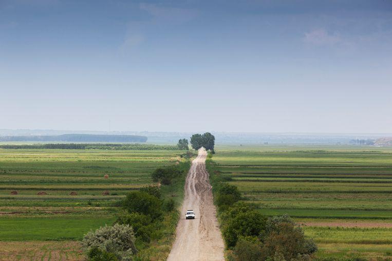 Archiefbeeld van een plattelandsweg in Vacareni.