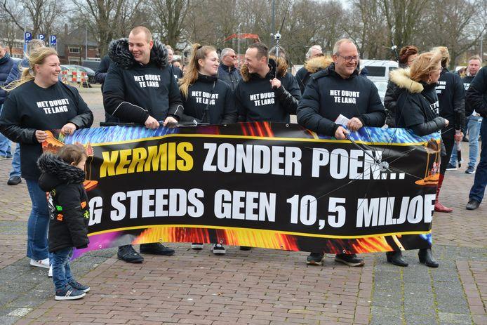 Kermisexploitanten demonstreren in Breda