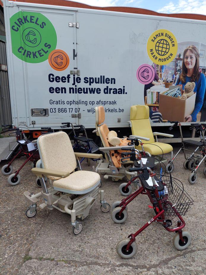 Woonzorgcentrum Ten Weldebrouc schenkt het oude rollend materieel aan 't Atelier.