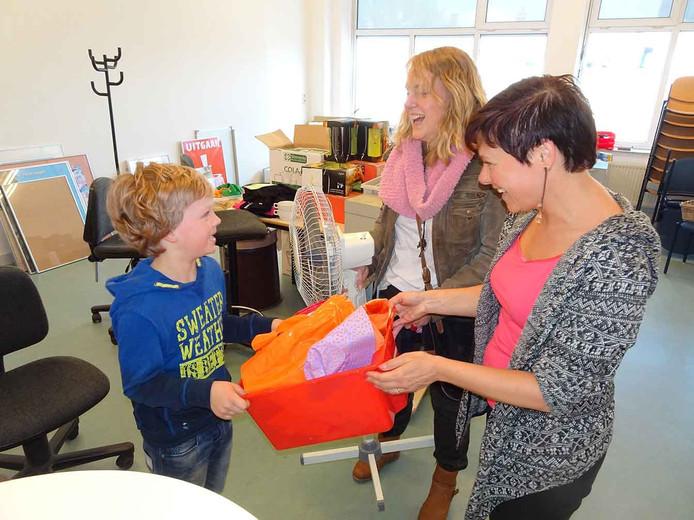 Van links naar rechts Sam van Reijden, Benita van de Pasch, Inge Heijnen