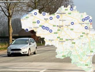 IN KAART. Dit jaar nog 20 extra trajectcontroles op Vlaamse gewestwegen