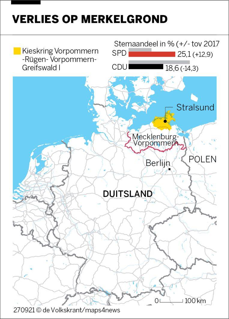 Verlies in deelstaat Merkel Beeld de Volkskrant