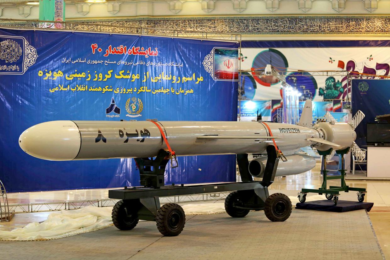 Iran toonde begin dit jaar de Hoveizeh-kruisraket die het zelf zou hebben ontwikkeld.   Beeld AP