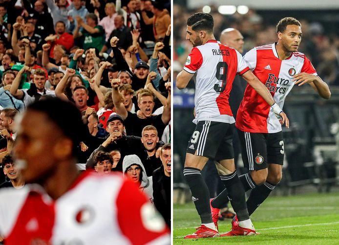 Feyenoord-fans staan als één man achter hun club. Alireza Jahanbakhsh maakte tegen NEC een zeer matige indruk.