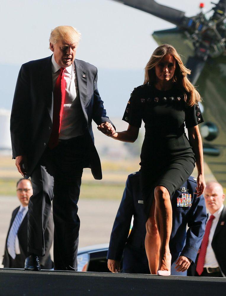 Donald Trump en zijn vrouw Melania in Sicilië. Beeld reuters