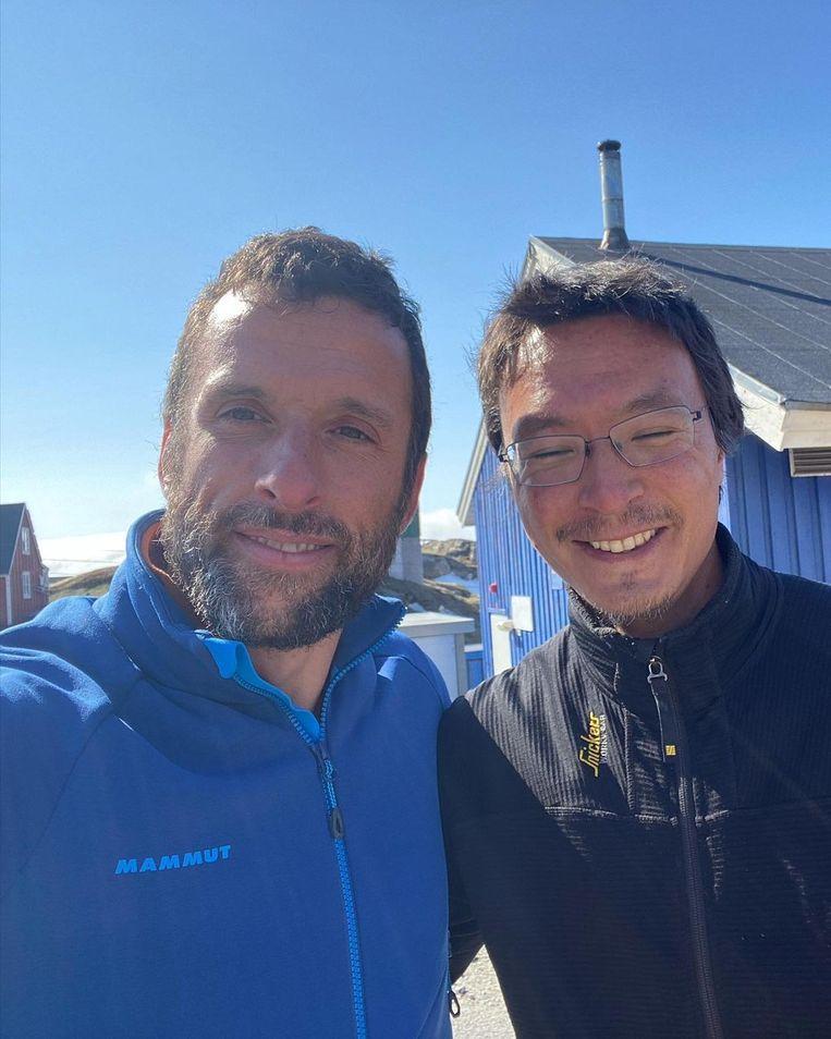 Voor hij vertrok op Groenland, nam Audy nog tijd om een aantal mensen van het reddingsteam te bedanken. Beeld Instagram