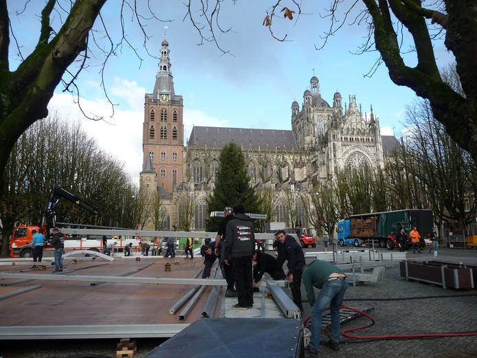 Opbouw van Winterland Den Bosch