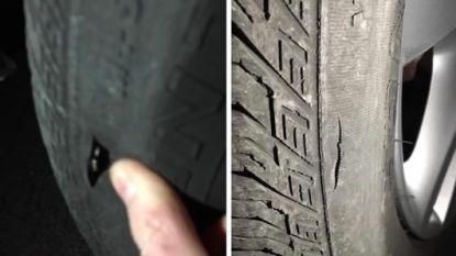 Getuigen gezocht nadat vandaal autoband lek steekt met mes
