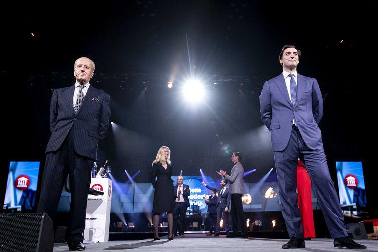 Theo Hiddema (links) en Thierry Baudet. Beeld ANP
