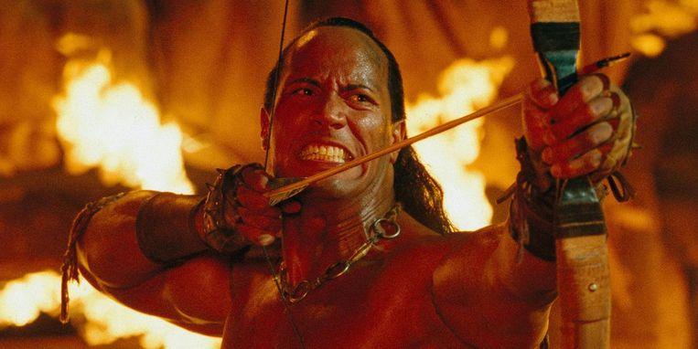 Dwayne Johnson in 'The Scorpion King'. Beeld