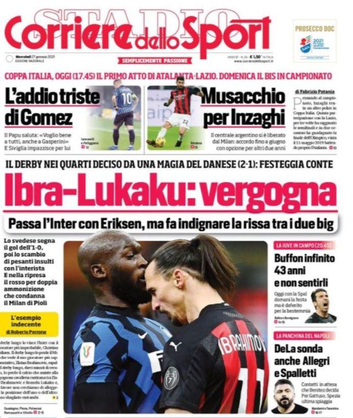 Ibra-Lukaku: de schande.