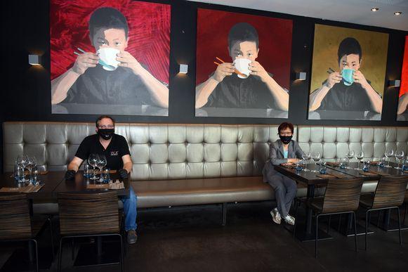 In buffetrestaurant Wok Dynasty in Overijse werden tal van maatregelen genomen om coronaproof te zijn.