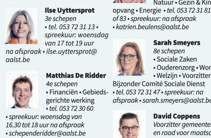 Onder de naam Ilse Uyttersprot staan nu geen bevoegdheden meer in het stadsmagazine Chipka.