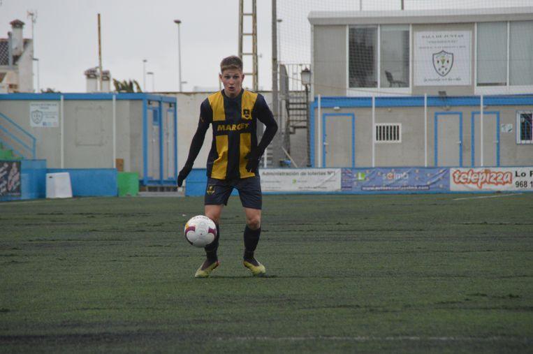 Gililow, tijdens zijn opleiding bij Marcet Football Academy in Barcelona (2019-2020).  Beeld